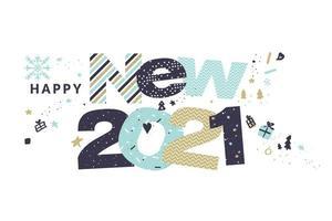 feliz ano novo 2021 vetor