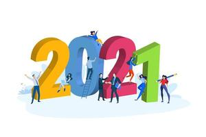 ano novo comercial de 2021 vetor