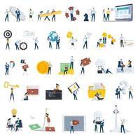conjunto de ícones de pessoas de estilo design plano vetor