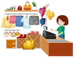 design de interiores de loja de tecidos