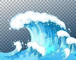 fundo transparente de ondas gigantes do mar vetor