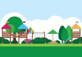 Outdoor Jungle Gym Playground vetor
