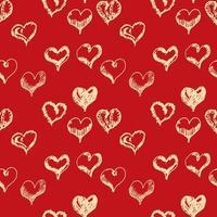 dia dos namorados mão desenhada corações sem costura padrão. vetor