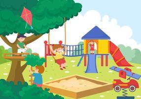 Ginástica da selva para crianças vetor