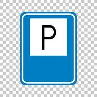 sinal de estacionamento isolado em fundo transparente