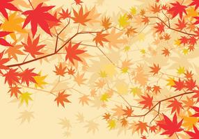 Fundo Maple Japonês vetor