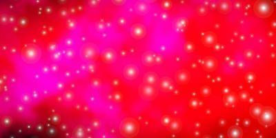 textura vermelha e rosa com belas estrelas.