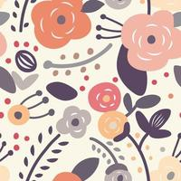 padrão floral vintage sem costura vetor