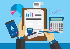 Freekeeping da área de trabalho da contabilidade vetor