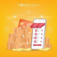 compras on-line no site ou aplicativo móvel