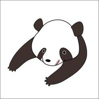urso panda bonito dos desenhos animados vetor