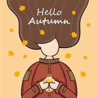 personagem no fundo do outono