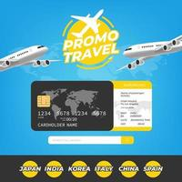 modelo de promoção de viagens para reserva online vetor