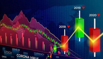 gráficos do mercado de ações vetor