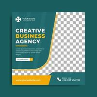 conjunto de modelo de banner de agência de marketing