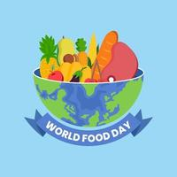 dia mundial da comida vetor
