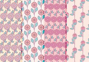 Coleção de padrões florais de vetores