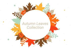 Fundo livre do vetor das folhas de outono