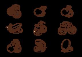 Castanholas desenhadas à mão vetor