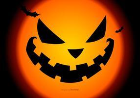 Cara de abóbora assustadora rosto de Halloween