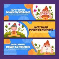 Conscientização e apoio à síndrome de down vetor