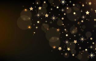 um grupo de estrelas no céu noturno vetor