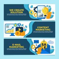 solução de banner da web para todas as necessidades de marketing vetor