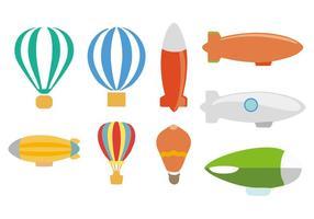 Vetor de balão dirigible livre