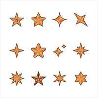 coleção de formas de estrelas vetor