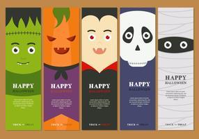 Feliz banner de Halloween vetor
