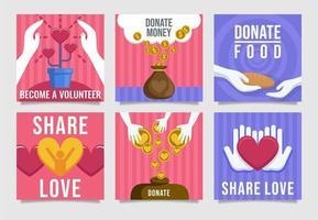 cartão de conscientização de doação vetor