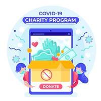 programa de doação covid-19 vetor