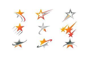 coleção exclusiva do logotipo da estrela vetor