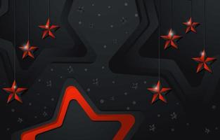 fundo estrela vermelha e preta masculina