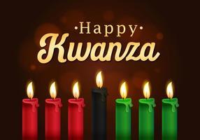 Saudações felizes de Kwanzaa para a celebração vetor