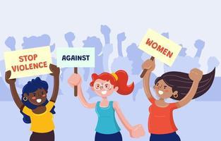 acabar com a violência contra as mulheres vetor