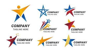 logotipo abstrato com conceito estrela vetor