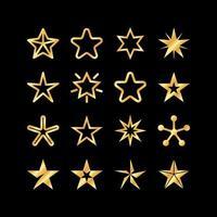ícones de várias formas de estrela vetor