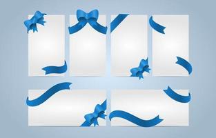 cartões notas conjunto fita azul vetor