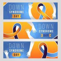 banners do dia feliz com síndrome de down vetor