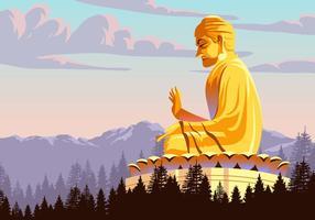 Vector da estátua de Buda