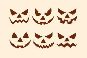 Halloween Pumpkin Faces Collection
