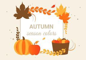 Vector de design plano gratuito Ilustração de saudação de outono