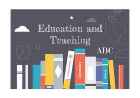 Elementos vetoriais de educação plana gratuita vetor