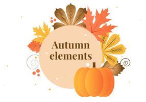 Elementos de outono do vetor de design plano gratuito