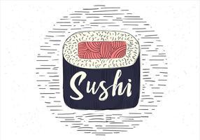 Ilustração de sushi de vetor desenhada à mão grátis