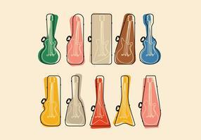 Vetores de capa de guitarra de contorno
