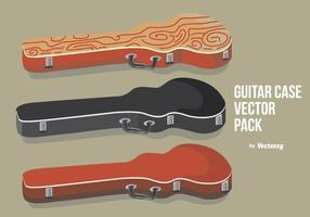 Caixa de guitarra com textura vetor