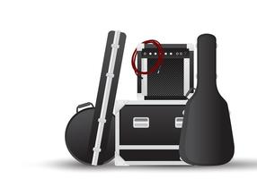 Guitarra Case Backstage Free Vector