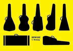 Silhueta de caso de guitarra vetor